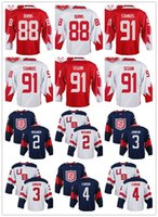 Wholesale Mens Team Canada Jersey Brent Burns Steven Stamkos Tyler Seguin World Cup of Hockey Olympics Game Red White Jerseys