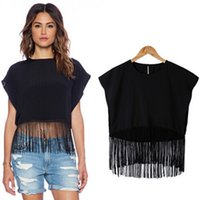 bell trade - 2016 new fashion hot selling tassel loose chiffon shirt foreign trade blouse price