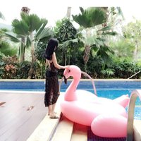 Wholesale Hot Sale CM Pink Flamingo Pool Inflatable Floats Swimming Ring Raft Swimming Pool Toys For Adult