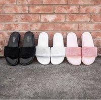 b heels - New RIHANNA LEADCAT FENTY Slipper Rihanna Leadcat Fenty Faux Fur Slide Sandal Fashions Women Fenty Slippers Black Slide Sandals Fenty Slides