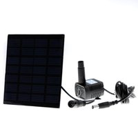 Wholesale 2015 New Solar Power Water Pump Fountain Pool Pump Garden Plants Watering Pump Kit Yard Garden Outdoor Pump