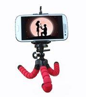 Viaje del teléfono celular soportes de coches soporte para teléfono trípode flexible del pulpo soporte selfie soporte Monopod labra los accesorios para la cámara del teléfono móvil