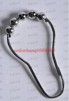 Wholesale Fashion Hot Polished Satin Nickel Roller ball Shower Curtain Rings Curtain Hooks