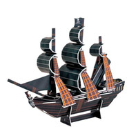 Wholesale Hot D Puzzle Boat The Black Pearl Model Jigsaws DIY Children Kids Assemble Toy Gift