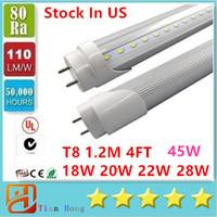 Cree 20w Corn Stock in USA 4ft 18W 20W 22W 28W 45W T8 Led Tube Light Led lighting Fluorescent Tube Lamp 1.2m LED tubes