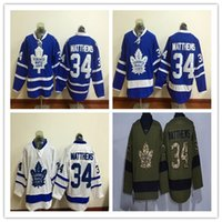 authentic apparel - 2016 New Toronto Maple Leafs Ice Hockey Jerseys Auston Matthews Blue White Green Authentic Stitched Athletic Outdoor Apparel