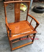 antique wood office chair - Antique mahogany leisure chair African Red sandalwood armchairs home chair living room furniture luxury wood office siting chairs