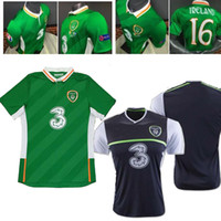 ireland - New Republic of Ireland EURO CUP Soccer jersey home green away black top quality Ireland soccer jersey football shirt