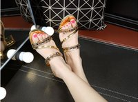 Wholesale 2016 summer women s fashion casual high heeled open toed sandals slippers woman sweet crude with diamond shoes sandals