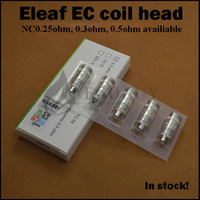 Wholesale 100 Authentic Eleaf EC ohm ohm coils nc ohm ecl coil For ijust2 istick w melo melo2 melo3 mini melo nano pico tank lemo3