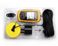 Wholesale Portable Fish Finder Depth Sonar Sounder Alarm Transducer Fishfinder m Fishing Bait Tool