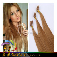 Wholesale Nail U Tip Hair Extensions colorful Keratin Straight Hair Weaves Brazilian Soft Remy Stick Human Hair Extensions quot quot
