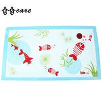 Wholesale Security Bath Mat for Babies Suede Super Comfortable Red Fish Pattern Non slip Baby Bath Mats New