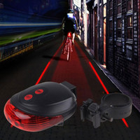 Wholesale 5LED Laser Cycling Bicycle Bike light Flash Mode Safety Rear Lamp waterproof Laser Tail Warning Lamp Flashing
