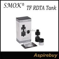 Smok TF-RDTA Tanque 5ML Capacidad con S2 Preinstalado Ranuras laterales de flujo de aire laterales Directo a bobina Diseño Base de cubierta Dos en una Estructura Original