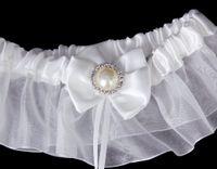 Wholesale HOT Sexy bride pearl diamond wedding garter white ball