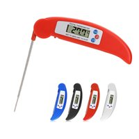 Wholesale Folding Digital LCD Cooking Food Kitchen Probe Thermometer Meat BBQ The kitchen thermometer Outdoor barbecue partner