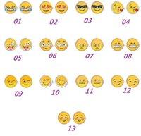 Wholesale t QQ Expression Emoji Cuff Links Cute Cartoon Fashion Crystal Glass Cuff Links Men s Shirts Button
