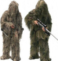 Wholesale CAMO GHILLIE Hunting Clothing camouflage shade cloth TACTICAL CAMOUFLAGE SUIT Grass Type Camouflage Shade Cloth Ghillie Suit