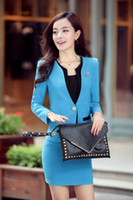 Wholesale 2016 Spring Hot Sale Female Suits Long Sleeved Skirt Sling Business Suits Korean Version High End Women Clothing