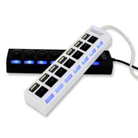 Wholesale 7 Port USB Multi High Speed Hub ON OFF Sharing Switch For Laptop PC