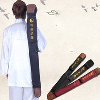 Wholesale Tai chi sword set m lengthen edition sword bags double layer High Quality Oxford Fabric Leather Kendo Aikido laido