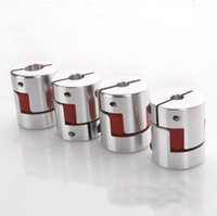 Wholesale 4pcs Aluminium Plum Flexible Shaft Coupling D20 L25 X8mm Motor Connector Flexible Coupler mm To mm