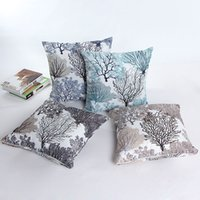 Wholesale Fashion Home Decor Cotton Throw Pillow Case Sofa Throw Waist Cushion Cover Home Sofa Office Decoration Colors New Tree