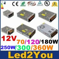 Wholesale 6A A A A A A Led Transformer W W W W W W Power Supply For Led Modules Led Strips DC V