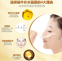 Wholesale Skin Care Facial peel Sheet Whitening Moisturizing Anti aging Prevent Allergy Tender Face Skin Snail Essence Moisturizing Masks