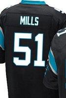 Wholesale Sam Mills Carolina elite JERSEY shirts size S small xl