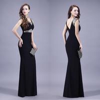 big bag occasion - American star big black diamond V collar Halter models toast clothing shoulder bag double sequins dress chair