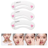 Wholesale Eyebrow card Eyebrow stencils styles brow class reusable eyebrow drawing guide card makeup styling tools Make up line for natural