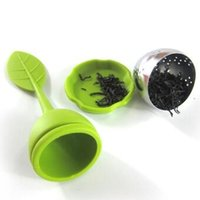 Wholesale Silicone Tea Infuser Leaf Stainless Steel Tea Strainers Make Tea Filter Bag Creative Food Grade Silicone silica gel New