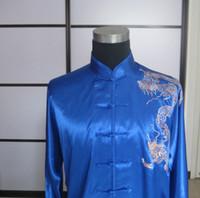Cheap Wholesale-ALWW16 faux silk customized tai chi shirts men women custom-made tai chi shirt tailor wushu suits free ship