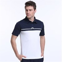 Wholesale Golf Apparel T Shirt Men Brand Polo T Shirts Spring Summer Short Sleeve Sportwear Ball Clothes Quick Dry Breathable Golf Tops
