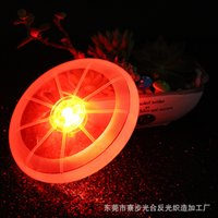 Wholesale New sports toy pet dog pet supplies LED luminous Frisbee colors optional support for mixed batch cm in diameter ZD033B