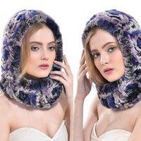 Wholesale Women s Rex Rabbit Fur Hats Winter Ear Cap Flexible Ear Muffs TP99073