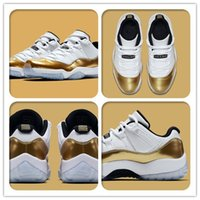 air hockey table kids - Men Kids Air Retro Low White Gold Sneakers Olympic Theme Outdoors Air Retro s Basketball Shoes Metallic Gold Size Top Quality