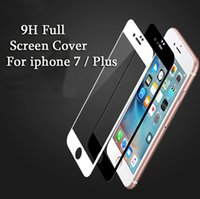Wholesale 9H Full Screen Cover For Apple iphone Glass Screen Protector Cases Explosion proof Tempered Glass Film for iphone plus Film