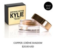 Wholesale Kylie Cosmetics READY TO SHIP Limited Birthday Creme Shadow Copper Rose Gold