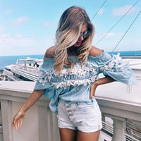 Cheap Autum Spring Ladies Full Sleeve Chiffon Blouse Floral Wrapped Chest Top straight Collar beach Tunic Women Summer Dresses Women Clothing