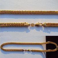 9ct gold - FINE YELLOW GOLD JEWELRY SOLID K CT Yellow GOLD Open LINK Wide CHAIN NECKLACE quot S08B MENS WOMANS