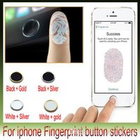 Wholesale Touch id aluminum Button Sticker Support Fingerprint Indentification System for iphone6 plus iphone5s ipadmini23 ipad air