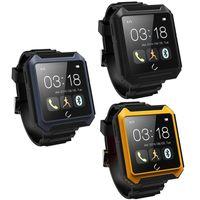 Wholesale 2015 Waterproof Bluetooth Smartwatch WristWatch U Watch Uterra for intelligent crystal Kits IOS Android Smartphones