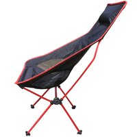 big camp chair - RED Color Portable Camping Chair Fishing Folding Chair Light Weight Packed Seat Stool For Picnic Barbecue Big Load Bearing