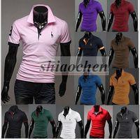 Wholesale Men Short Sleeve Polo Shirt Summer Poloshirts Cotton Polo Brand Shirts Male Shirt Polo Fashion Polo T Shirt Slim Fit Casual Shirts A1168