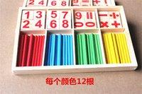 Wholesale 2016 New Baby Children Wooden Counting Math Game Mathematics Toys Kids Preschool Education Intelligence Stick Figures Box ZD023B