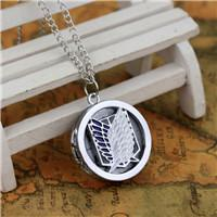 animations steel free - New Sale Pc Silver Attack on Titan Animation Style Necklace Steampunk Pocket WatchBoy Girls Best Gift