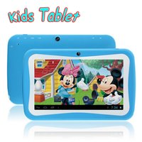 Wholesale 7 inch Quad Core Children Kids Tablet PC RK3126 Android Dual Cameras Educational Games App MB GB WiFi HD Screen colorful
